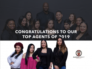 CONGRATS TO OUR TOP AGENTS OF 2019