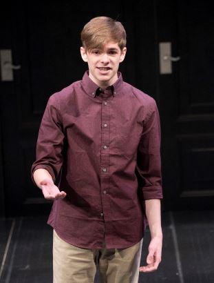 Matthew Grigoratos, 1st Place Winner, performs Shakespeare monologue at program