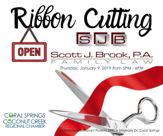 Scott J.Brook, P.A. Law Firm Ribbon Cutting in Coral Springs