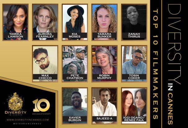 Diversity in Cannes Top 10 Global Filmmakers