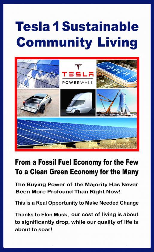 Tesla 1 Sustainable Off-Grid Community Living