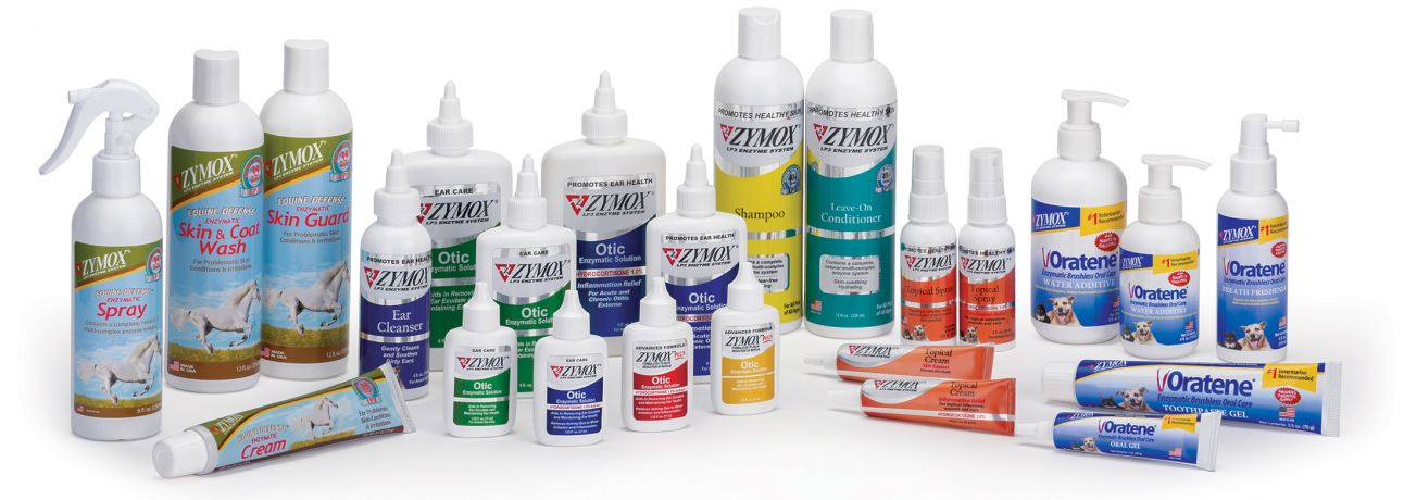 ZYMOX Equine, ZYMOX Ear & Skin, and Oratene Brushless Oral Care