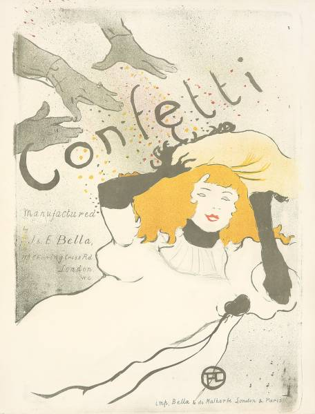Lot 496. Confetti, 1894, by Henri de Toulouse-Lautrec (1864-1901).