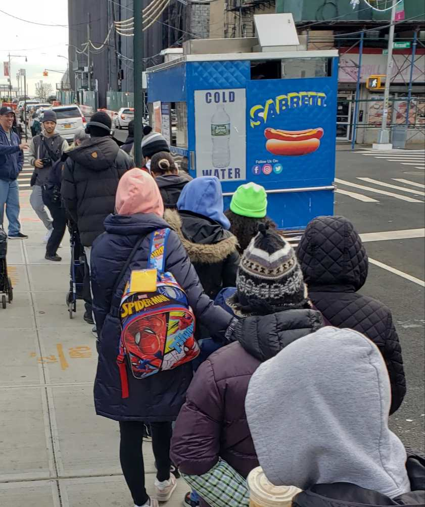 School Based Solution held a hot dog giveaway for students in Brooklyn