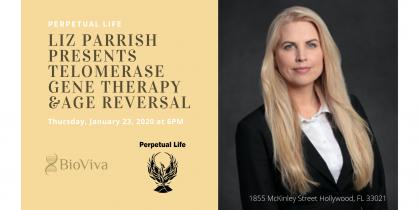 Founder of BioViva, Liz Parrish presents Telomerase Gene Therapy, & Age Reversal