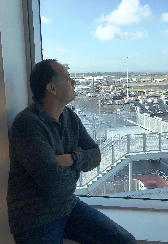 Pensive author, Paul Amezcua