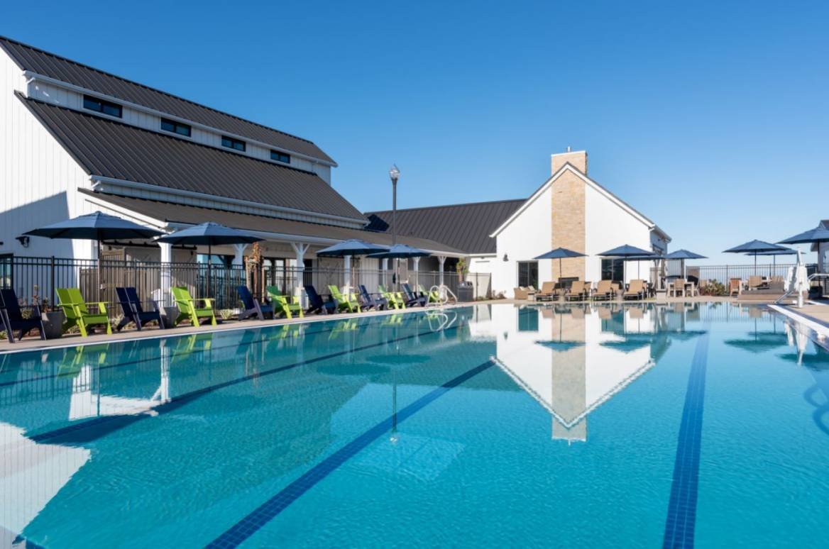 The Resident's Club boasts an Olympic size swimming pool at Tracy Hills.