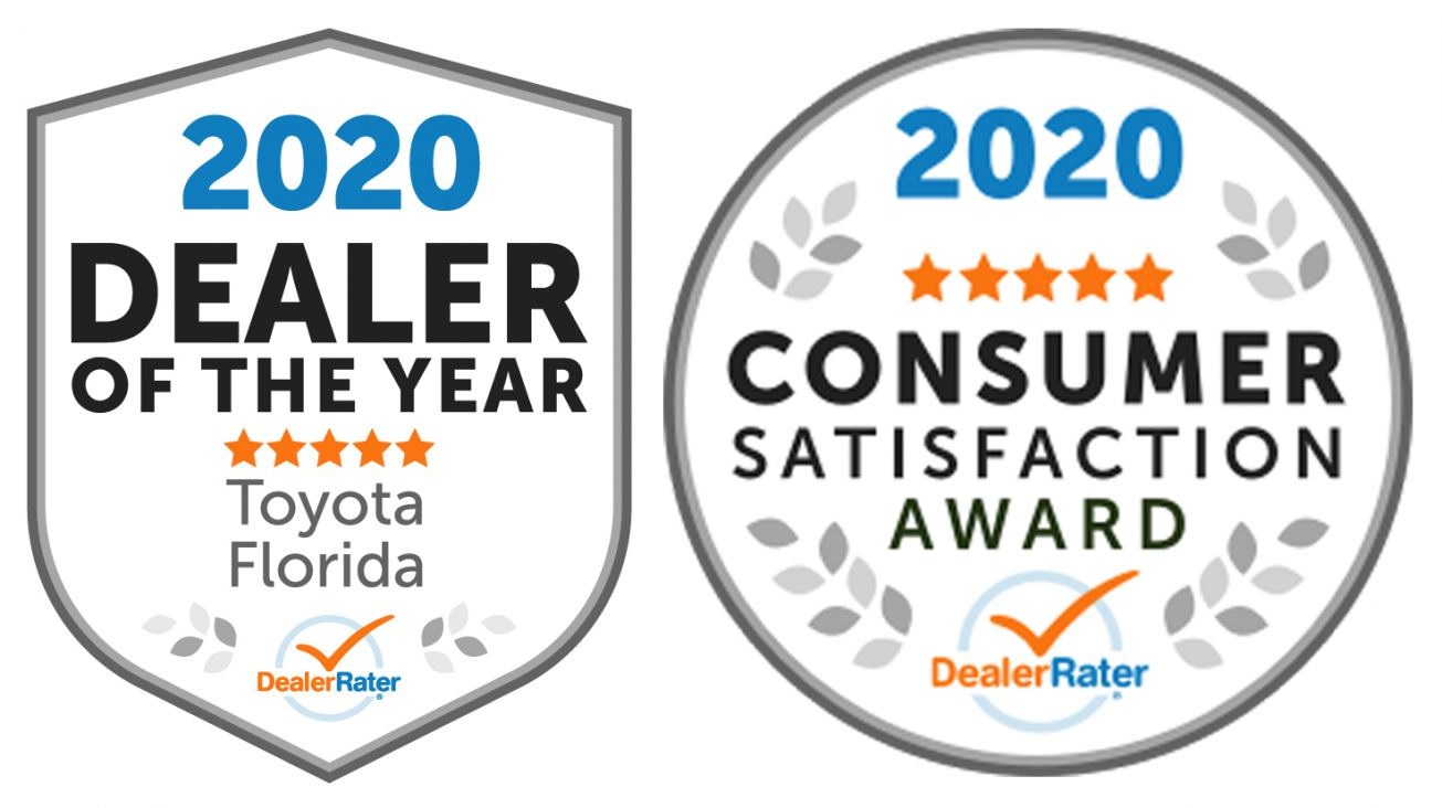 2020 Dealer of the Year and Consumer Satisfaction Awards from DealerRater