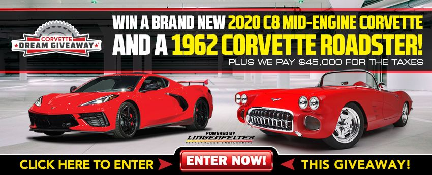 The 2020 Corvette Dream Giveaway features this pair of stunning Vettes.