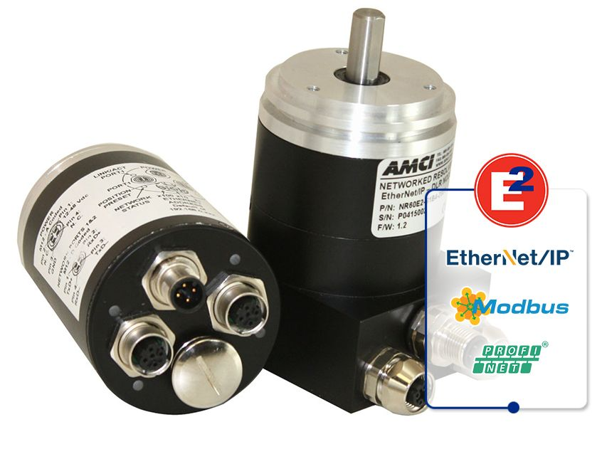 AMCI's NR60E2 Networked Rotary Shaft Encoder