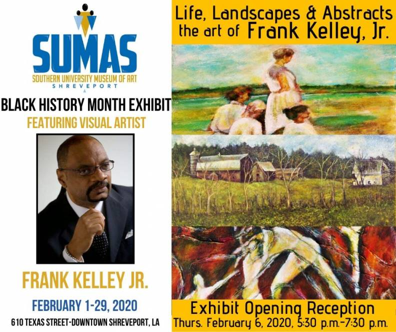 SUMAS-Black History Month Exhibit 2020 Featuring Artist Frank Kelley, Jr.