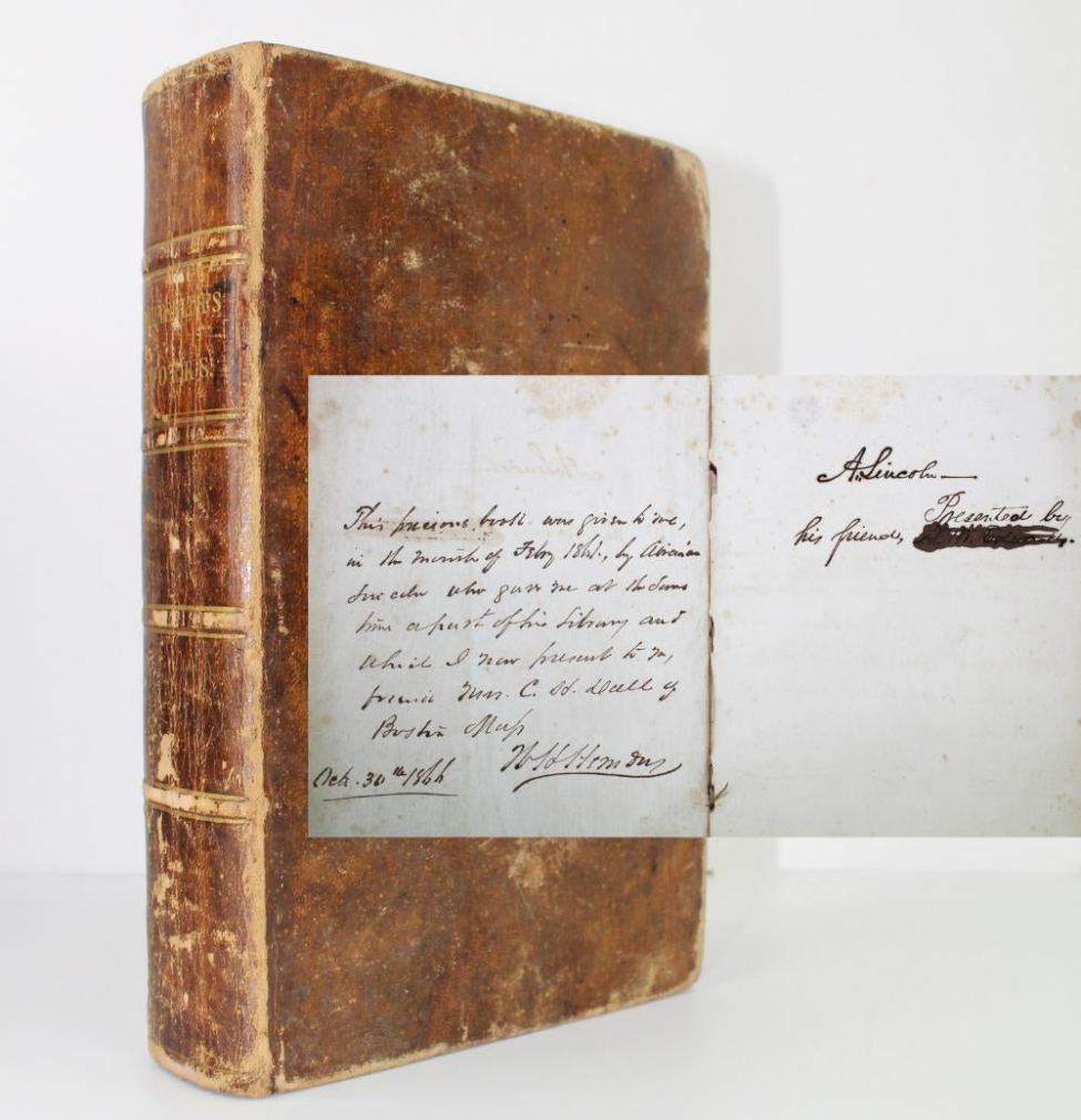 Copy of the book The Miscellaneous Works of Oliver Goldsmith, signed by Lincoln.