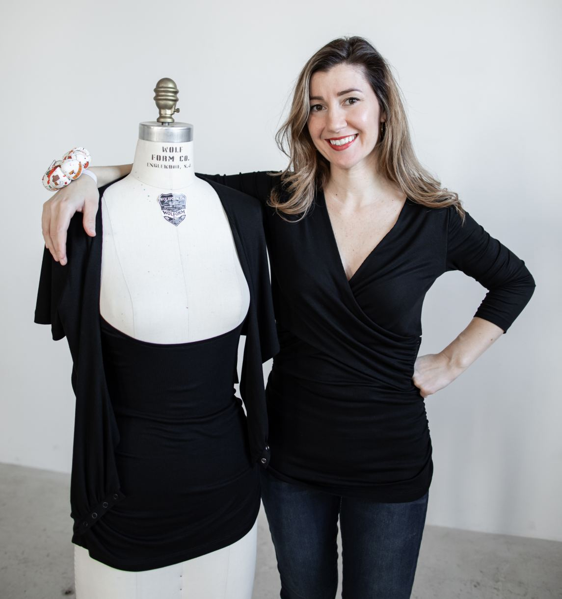Founder Wearing The Butterfly Feeder Top