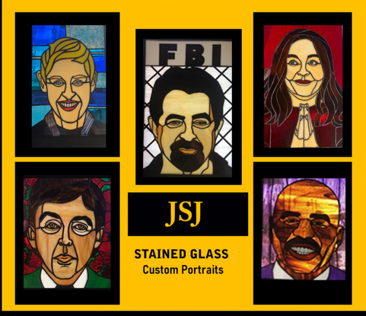 Hollywood Portraits in Stained Glass