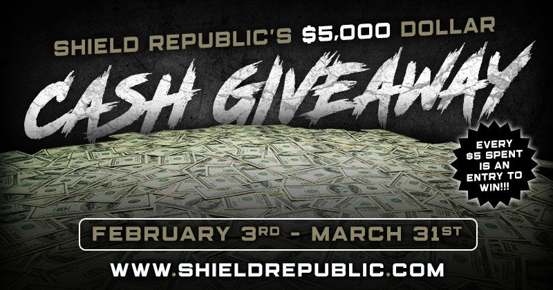 $5,000 CASH Giveaway from Shield Republic
