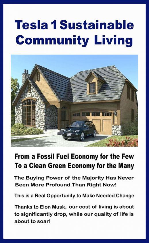 Tesla 1 Sustainable Living