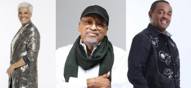 "Left to right - Dionne Warwick, James Mtume, Robert ""Kool"" Bell"
