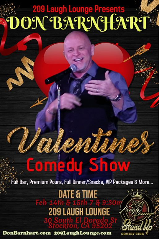 Celebrate Valentine's Day Weekend With Laughter From Comedian Don Barnhart