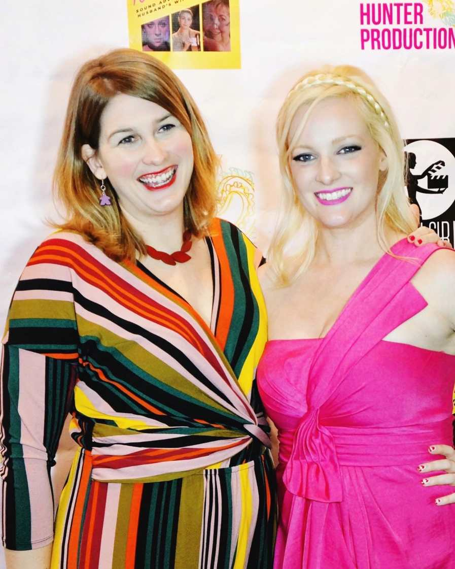 Samantha Macher (writer) and Laura Hunter Drago (producer) at the premiere.