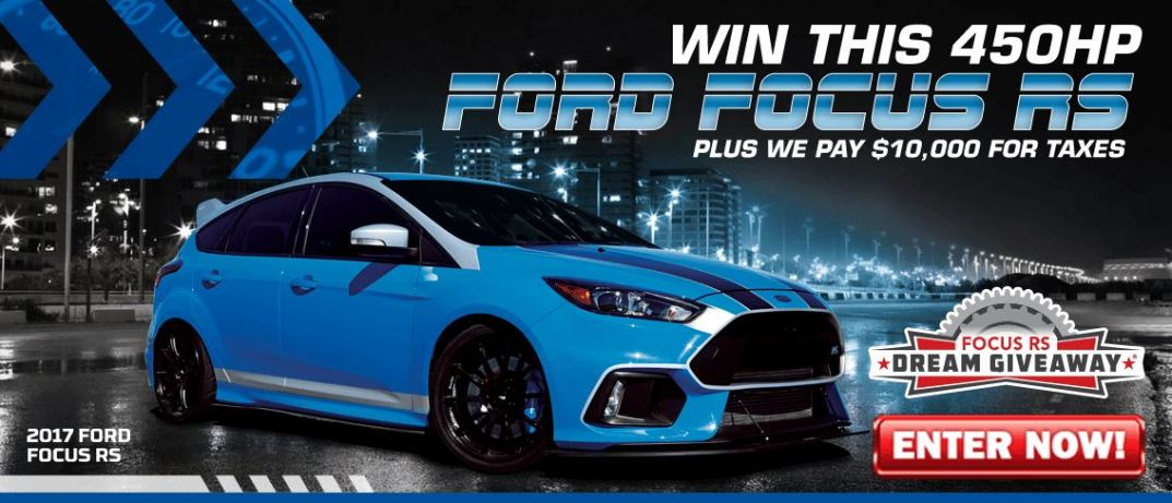The Focus RS Dream Giveaway grand prize is an upgraded, souped-up hot hatch.