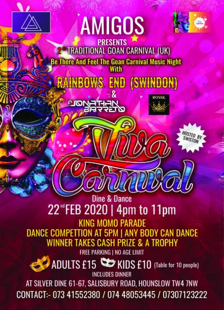 Viva Carnival Dine and Dance, Amigo Events, London