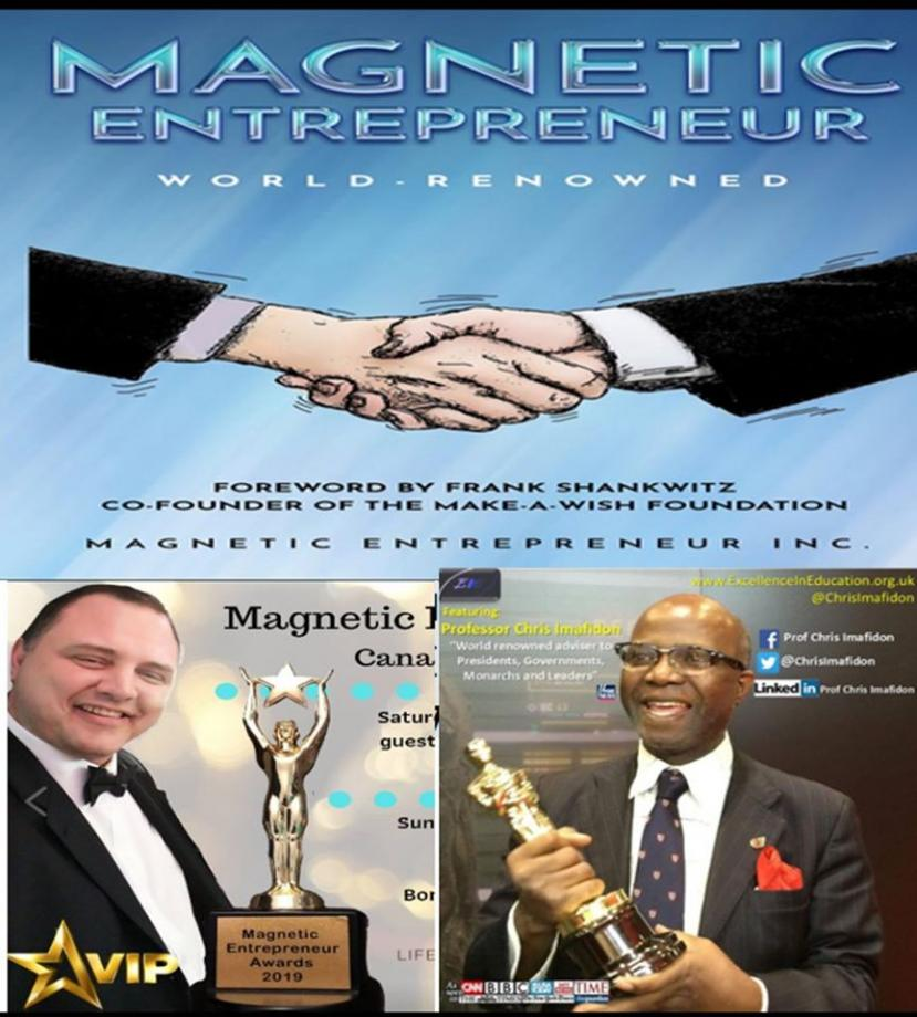 Magnetic Entrepreneur Book for charity