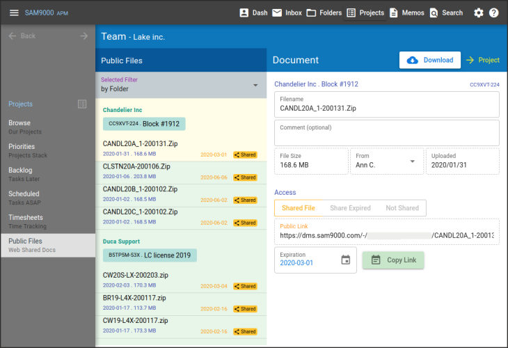 Sam9000 Agile Document Management 2002121728