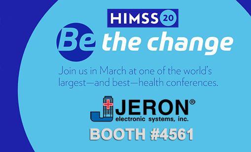 Visit Jeron at HIMSS20 Booth #4561