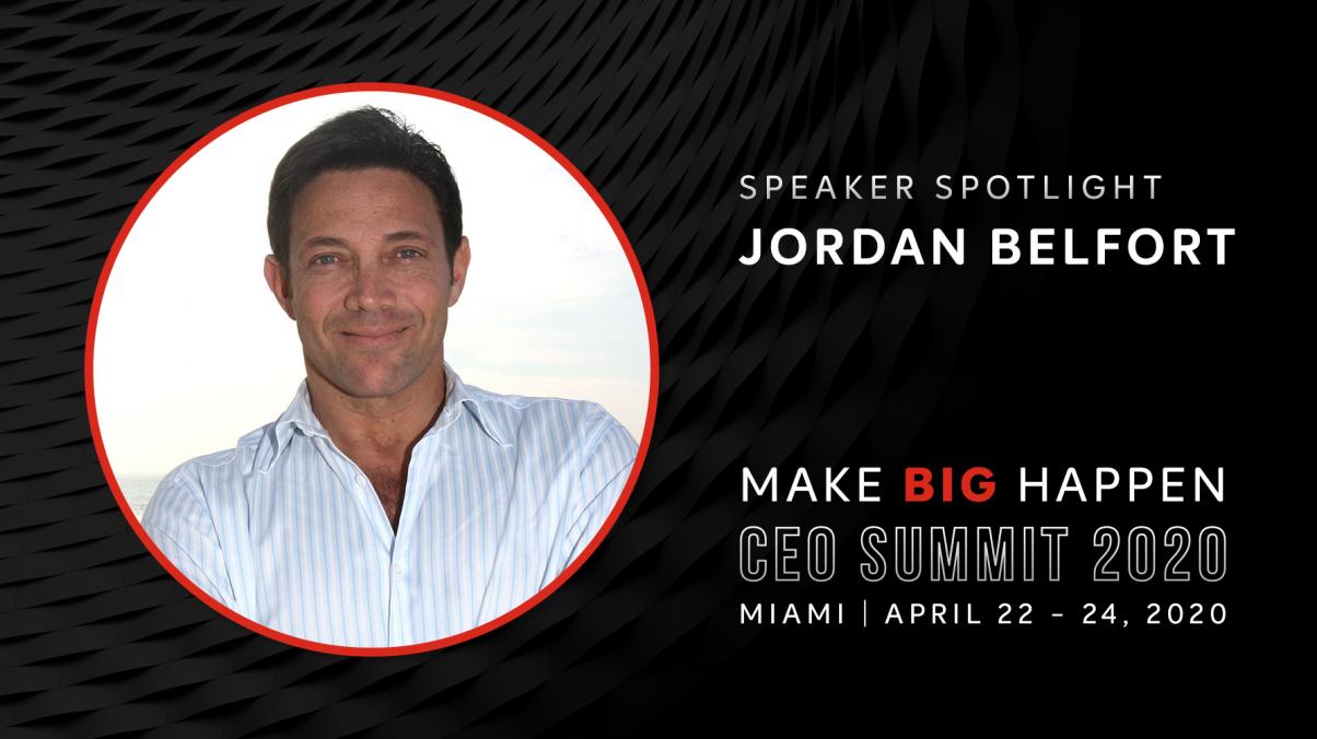 Jordan Belfort to speak at CEO Summit 2020