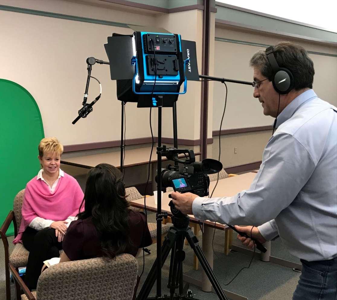 Mazz Media's Tom Mazzarella filming interview