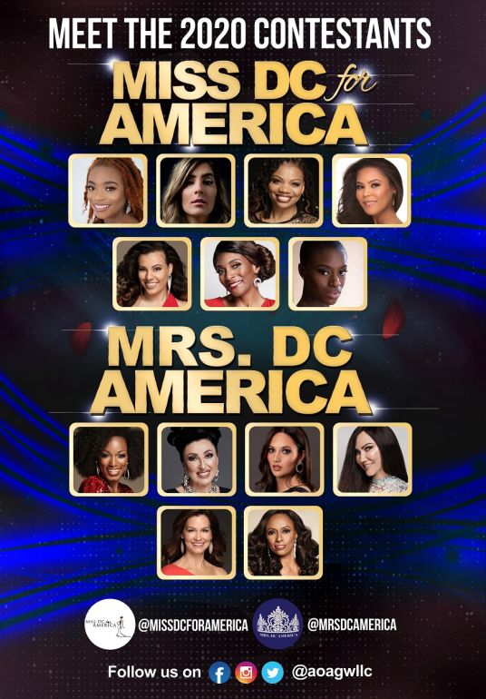 2020 Miss DC for and Mrs. DC America Contestants