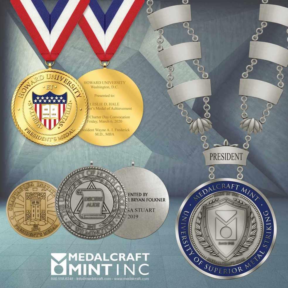 Medacraft Mint Collegiate Engravable Medals