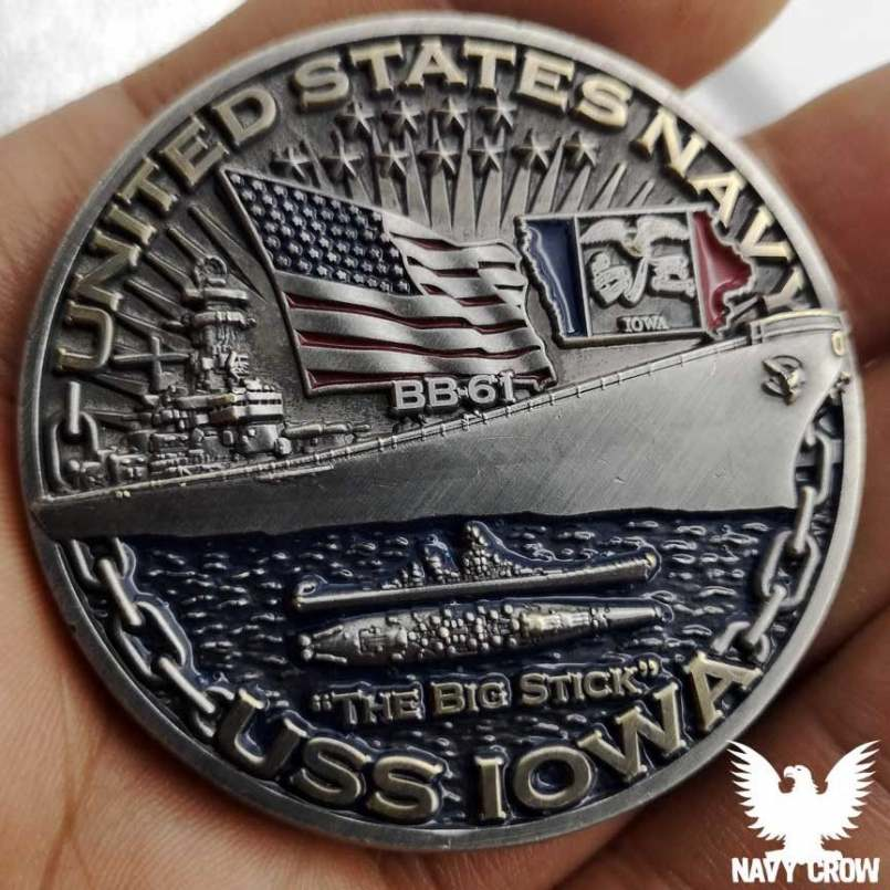 USS Iowa Warships of WW2 75th Anniversary Coin