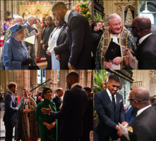 Royal guests Anthony Joshua & Prof Chris Imafidon
