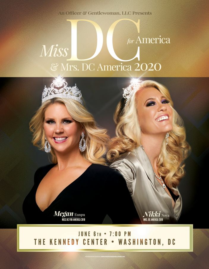 Miss DC for America & Mrs. DC America is 6/6/2020