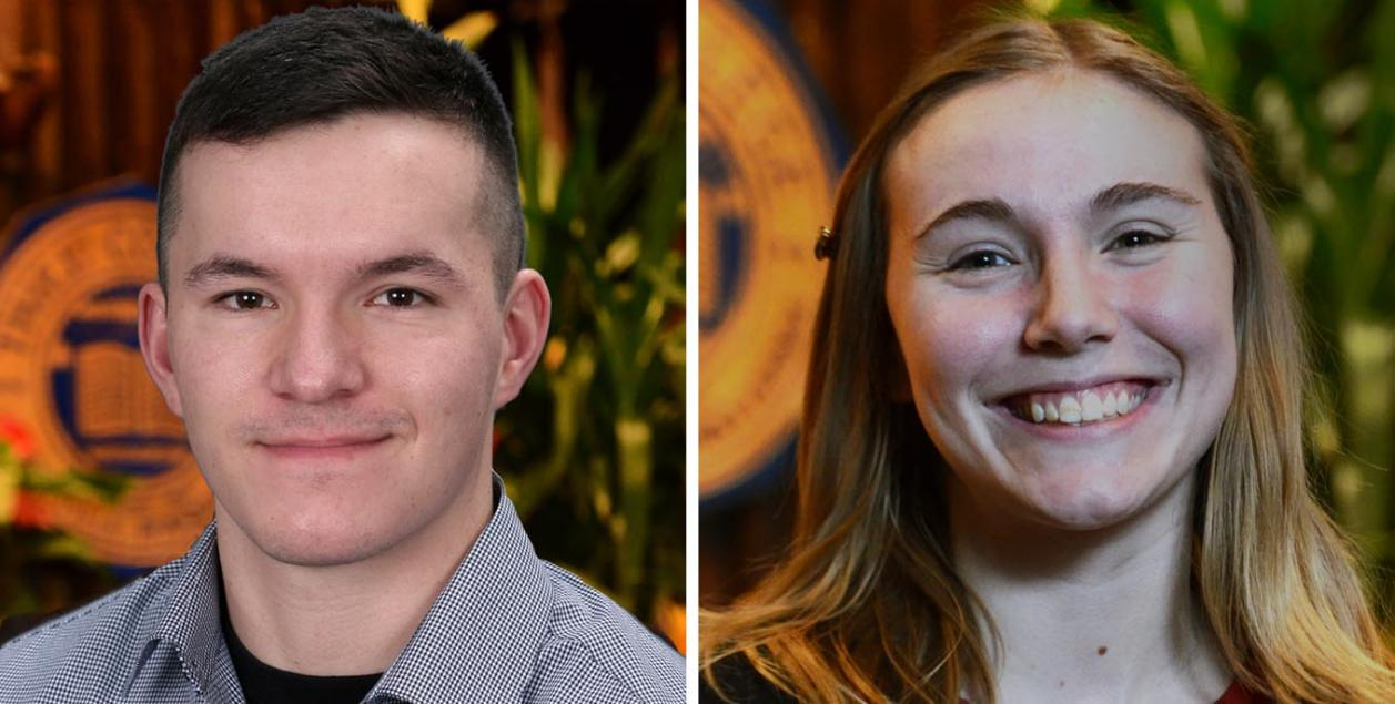 Sams, Paci are Thiel College Students of the Month
