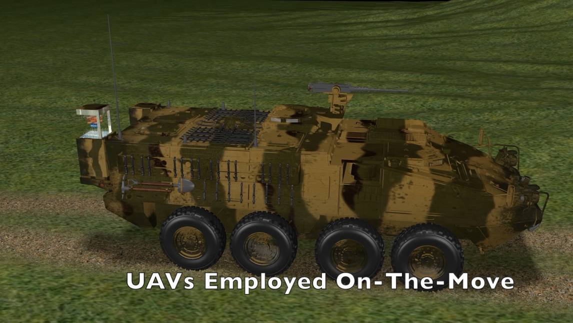 Stryker Uavs On The Move