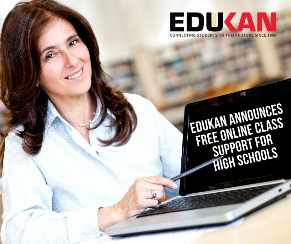 Edukan Announces Free Online Class Support