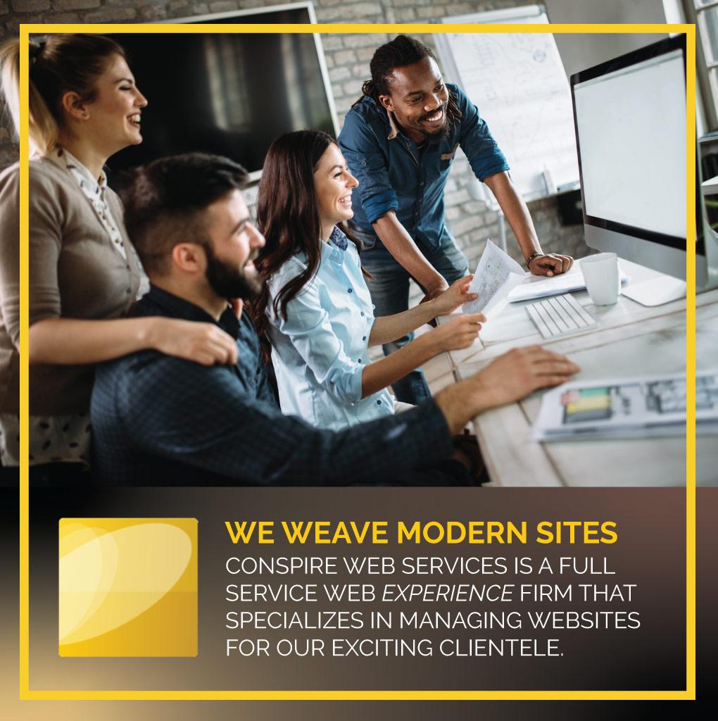 We weave modern sites