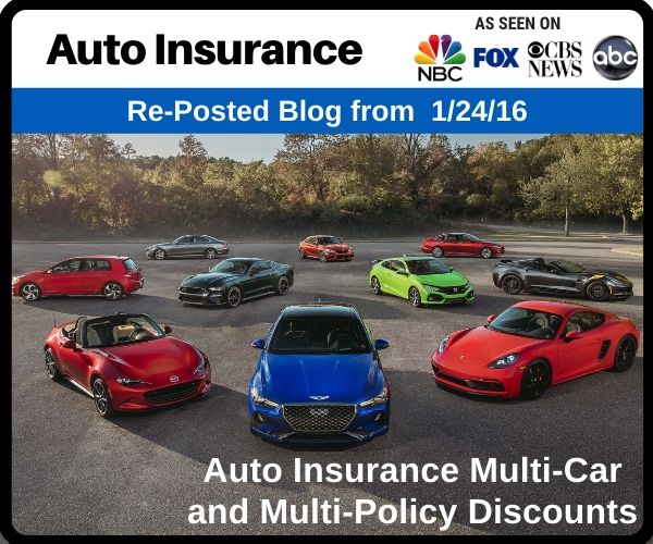 Auto Insurance Multi-Car and Multi-Policy Discount