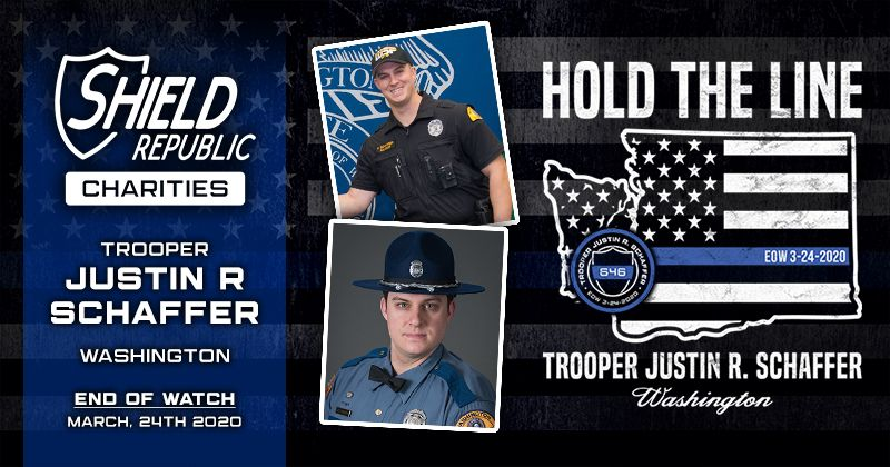 Shield Republic Fundraise Trooper Justin Schaffer