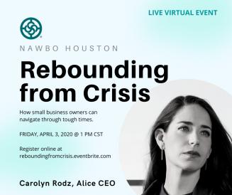 NAWBO Houston Rebounding from Crisis, Carolyn Rodz
