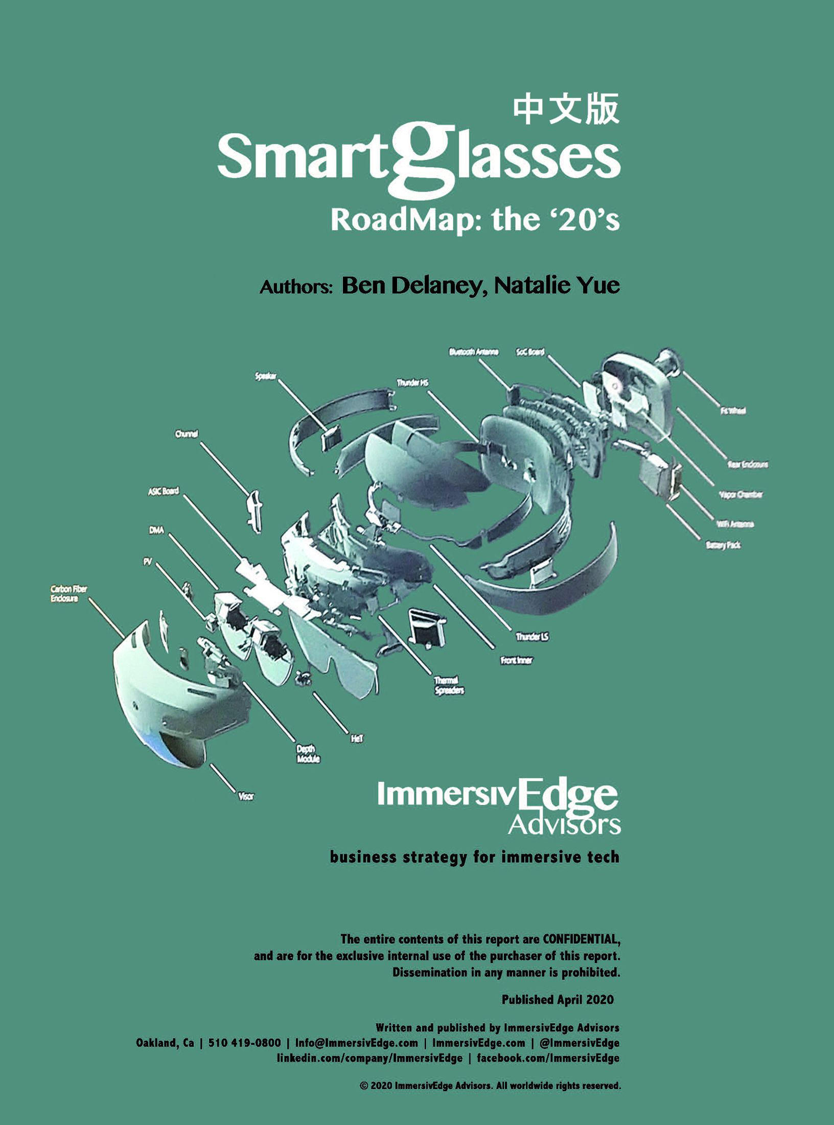 Smartglasses Roadmap in English or Chinese
