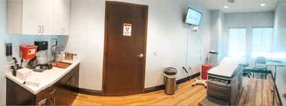 Exam room at Helix Urgent Care in Deerfield