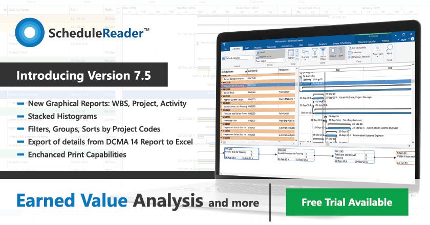 Earned Value Analysis In Schedulereader