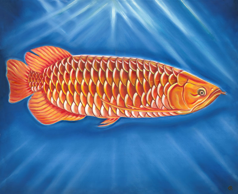 Dragon Fish Chinese Arowana Art