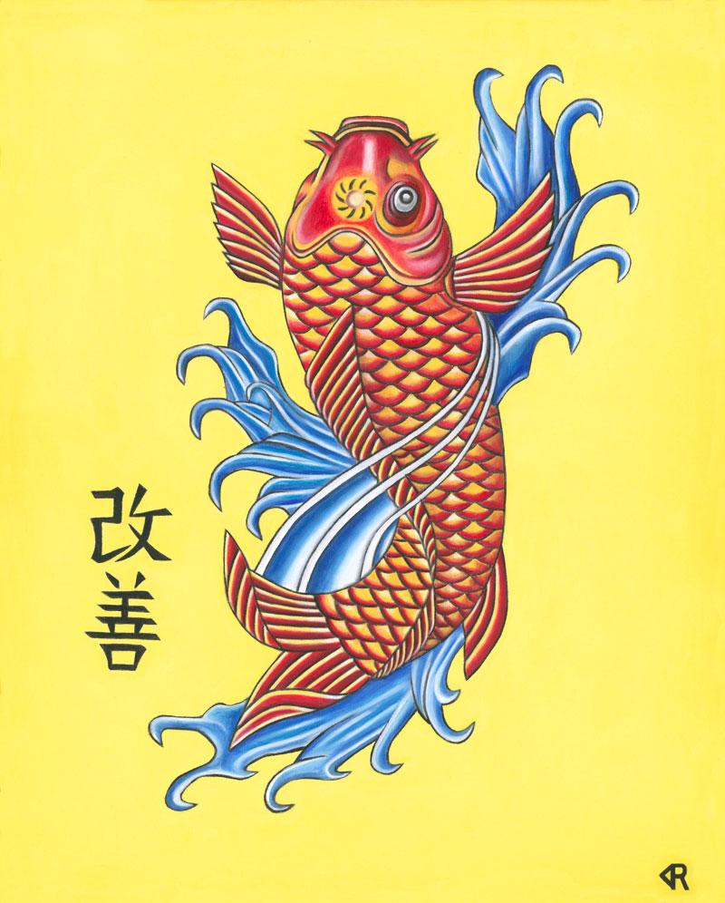 Kaizen Asian Koi Art Print