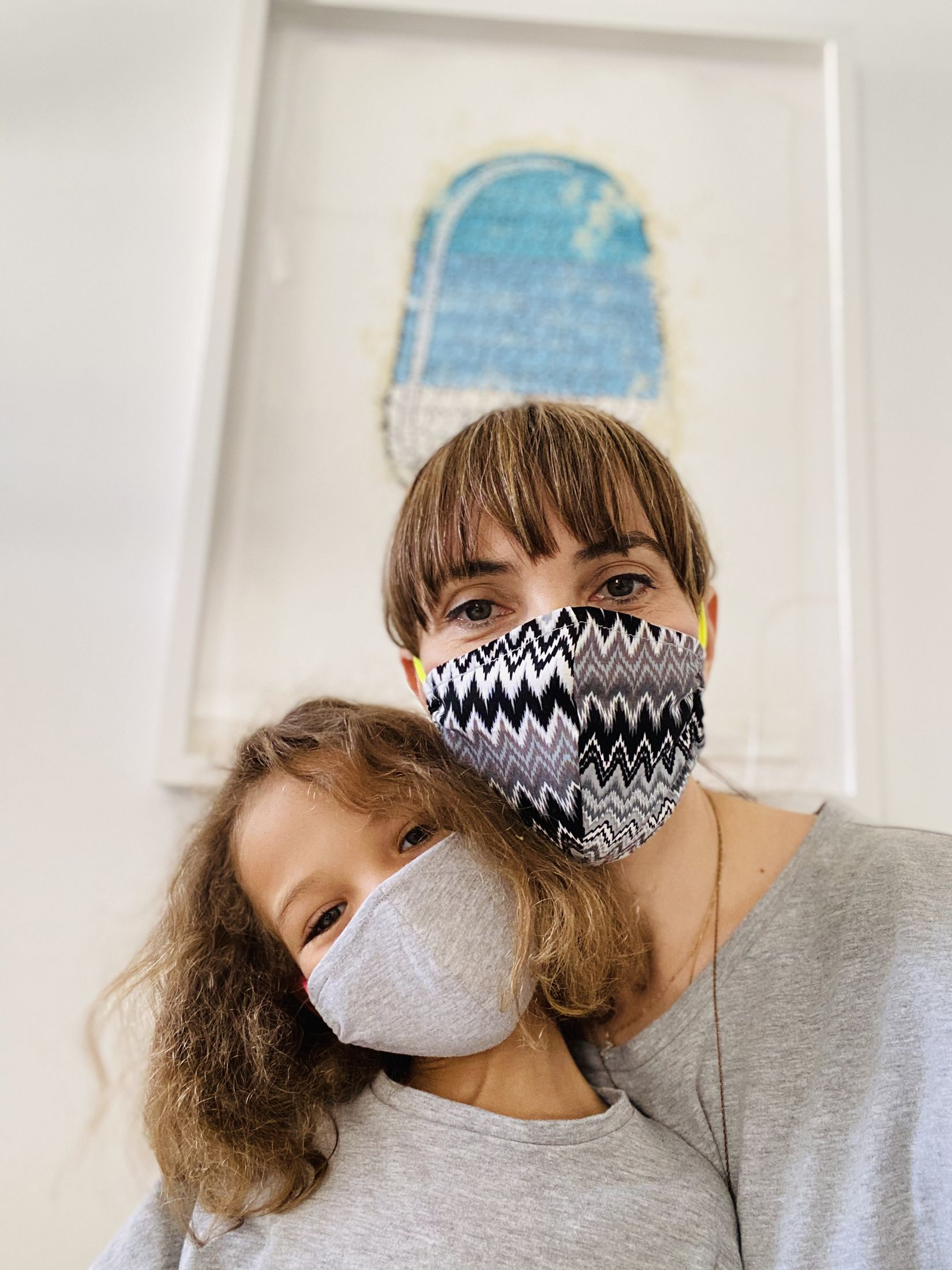 Elise Granjot & Daughter with Zelivia+Co masks