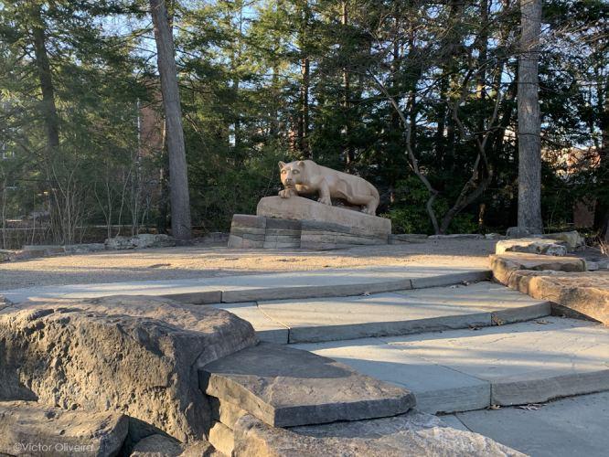 Penn State Nittany Lion Shrine during Covid-19