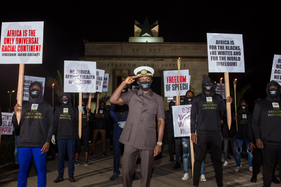 Freedom Movement China Silent Protest in Ghana